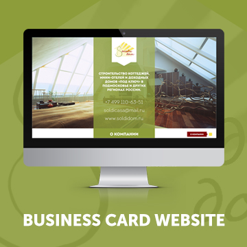 Business card website